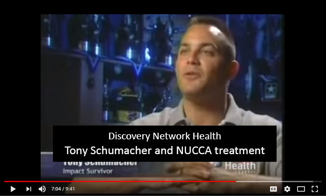 Discovery Network Health - Tony Schumacher and NUCCA treatment